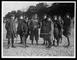 C.1166Spanish Generals on the drill ground watching drill