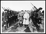 D.3265Marshal Foche and Sir Douglas Haig inspect guard of honour
