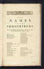 Page  [1]Names of the subscribers