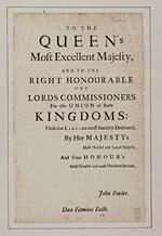 [Page 1]To the Queen's most excellent Majesty, and to the Right Honourable the Lords Commissioners for the union of both kingdoms
