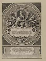 """Blaikie.SNPG.1.1William Augustus, Duke of Cumberland  Portrait of the Duke of Cumberland, surrounded by flags, cannons and other military trophies.  Portrait surrounded by text: """"Son altesse royale Guillaume duc de Cumberland"""".  With verses in French and in English.  """""""