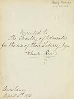 Presentation inscription